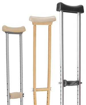 Axilla crutches
