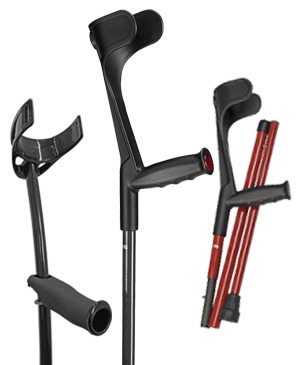 Forearm crutches made of carbon