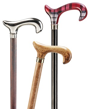 Exclusive wooden walking sticks with Derby grip - 100 kg