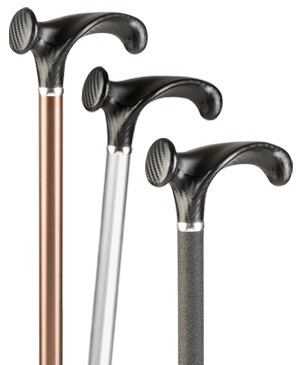 Light metal walking sticks with anatomical grip made of carbon - 130 kg
