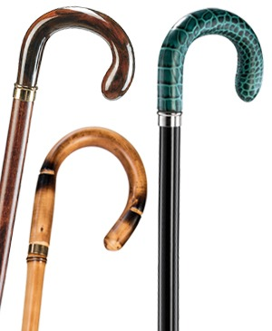 Wooden walking sticks with round hook grip - 100 kg