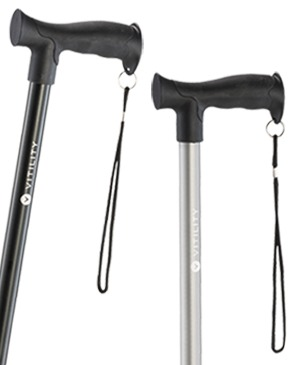 Light metal walking stick with Airgo Derby grip - 130 kg