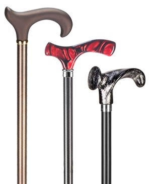 Light metal walking sticks