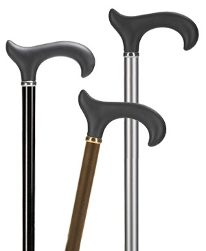 Light metal walking sticks with Derby soft grip - 100 kg