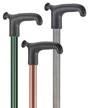 Light metal walking sticks with soft grip - 120 kg