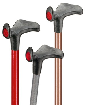 "Light metal walking sticks with anatomical grip ""Comfort"" - 130 kg"