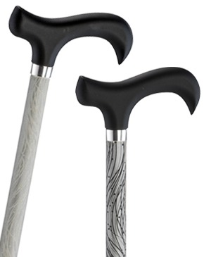 Reflective light metal walking sticks - 100 kg