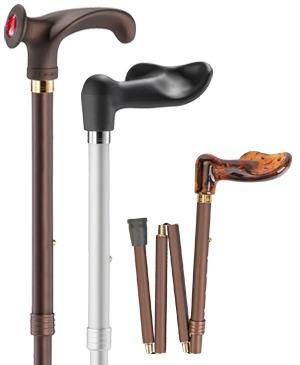 Faltbare Reisestöcke mit anatom. Griff & Fischergriff - 100 kg