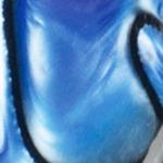 """""""Perlmutt"""" blau-schwarz"""