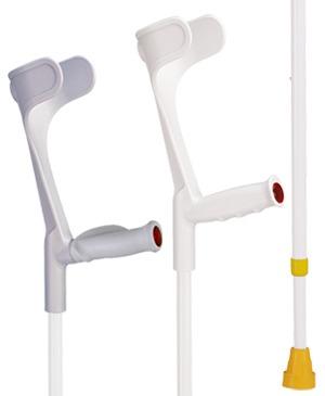 Unterarmgehhilfen in weiß
